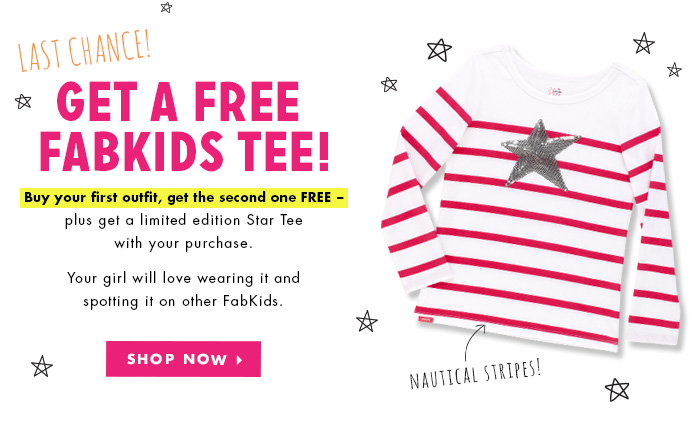 Buy One Outfit, Get One FREE + A FREE Gift With Purchase Tee. Ends Tonight!.